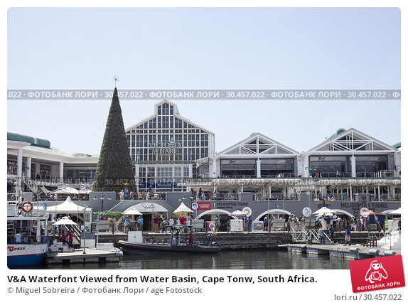 V&A Waterfont Viewed from Water Basin, Cape Tonw, South Africa. Стоковое фото, фотограф Miguel Sobreira / age Fotostock / Фотобанк Лори