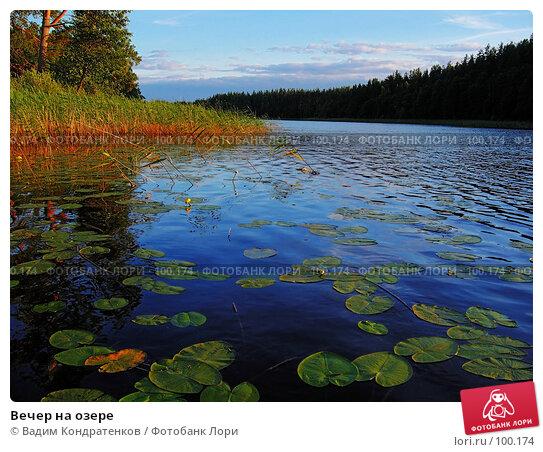 Вечер на озере, фото № 100174, снято 22 октября 2016 г. (c) Вадим Кондратенков / Фотобанк Лори