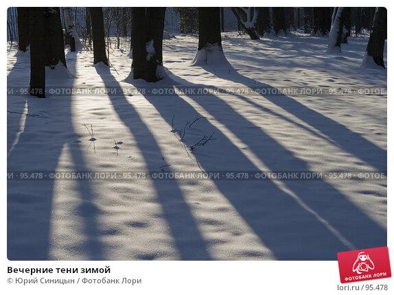 Купить «Вечерние тени зимой», фото № 95478, снято 26 января 2007 г. (c) Юрий Синицын / Фотобанк Лори