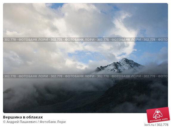 Купить «Вершина в облаках», фото № 302778, снято 22 марта 2018 г. (c) Андрей Пашкевич / Фотобанк Лори