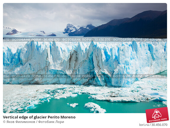 Vertical edge of glacier Perito Moreno. Стоковое фото, фотограф Яков Филимонов / Фотобанк Лори