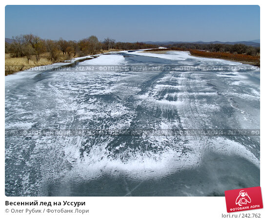 Весенний лед на Уссури, фото № 242762, снято 20 марта 2008 г. (c) Олег Рубик / Фотобанк Лори