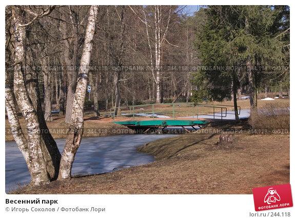 Весенний парк, фото № 244118, снято 4 апреля 2008 г. (c) Игорь Соколов / Фотобанк Лори