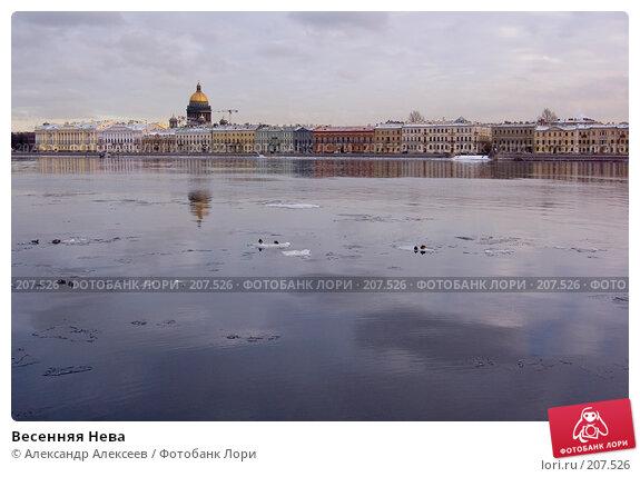 Весенняя Нева, эксклюзивное фото № 207526, снято 20 февраля 2008 г. (c) Александр Алексеев / Фотобанк Лори