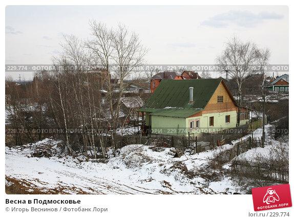 Весна в Подмосковье, фото № 229774, снято 22 марта 2008 г. (c) Игорь Веснинов / Фотобанк Лори