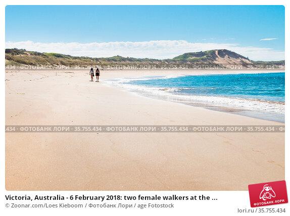 Victoria, Australia - 6 February 2018: two female walkers at the ... Стоковое фото, фотограф Zoonar.com/Loes Kieboom / age Fotostock / Фотобанк Лори