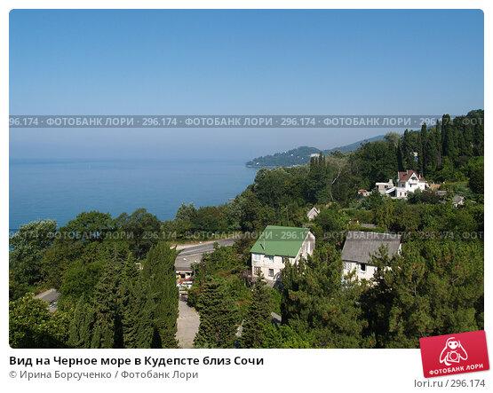 Вид на Черное море в Кудепсте близ Сочи, фото № 296174, снято 8 августа 2006 г. (c) Ирина Борсученко / Фотобанк Лори