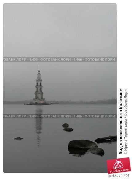 Вид на колокольню в Калязине, эксклюзивное фото № 1406, снято 11 ноября 2005 г. (c) Ирина Терентьева / Фотобанк Лори