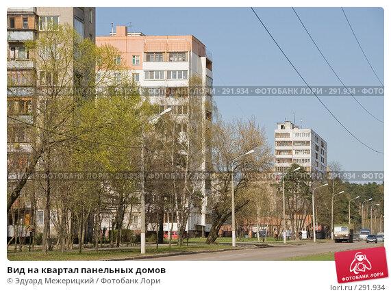 Купить «Вид на квартал панельных домов», фото № 291934, снято 23 апреля 2008 г. (c) Эдуард Межерицкий / Фотобанк Лори