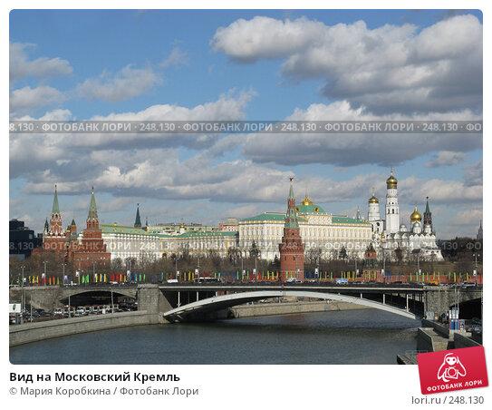 Вид на Московский Кремль, фото № 248130, снято 6 марта 2008 г. (c) Мария Коробкина / Фотобанк Лори