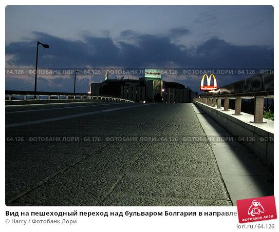 Вид на пешеходный переход над бульваром Болгария в направлении Национального Дворца Культуры, София, Болгария, фото № 64126, снято 29 мая 2004 г. (c) Harry / Фотобанк Лори