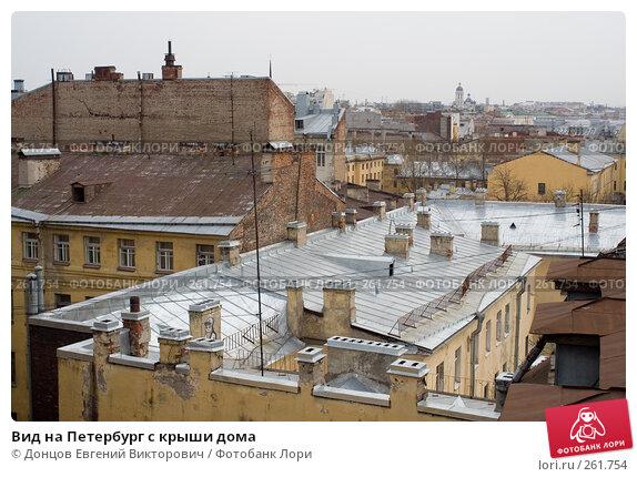 Вид на Петербург с крыши дома, фото № 261754, снято 17 апреля 2008 г. (c) Донцов Евгений Викторович / Фотобанк Лори