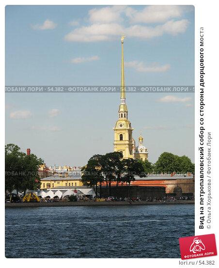 Вид на петропавловский собор со стороны дворцового моста, эксклюзивное фото № 54382, снято 16 июня 2007 г. (c) Ольга Хорькова / Фотобанк Лори