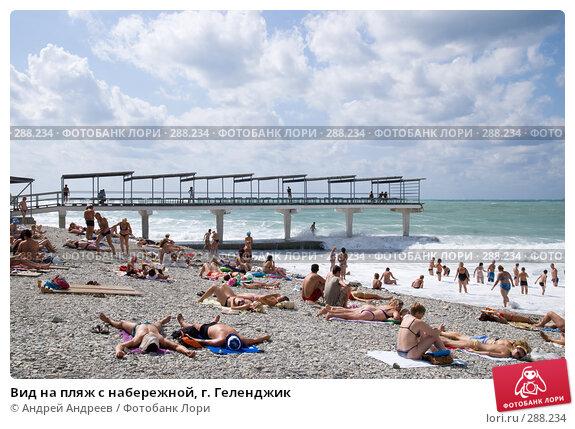 Купить «Вид на пляж с набережной, г. Геленджик», фото № 288234, снято 9 сентября 2007 г. (c) Андрей Андреев / Фотобанк Лори