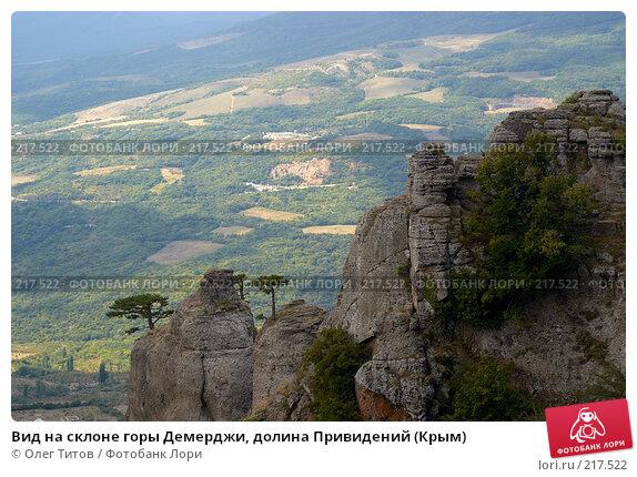 Вид на склоне горы Демерджи, долина Привидений (Крым), фото № 217522, снято 13 сентября 2006 г. (c) Олег Титов / Фотобанк Лори