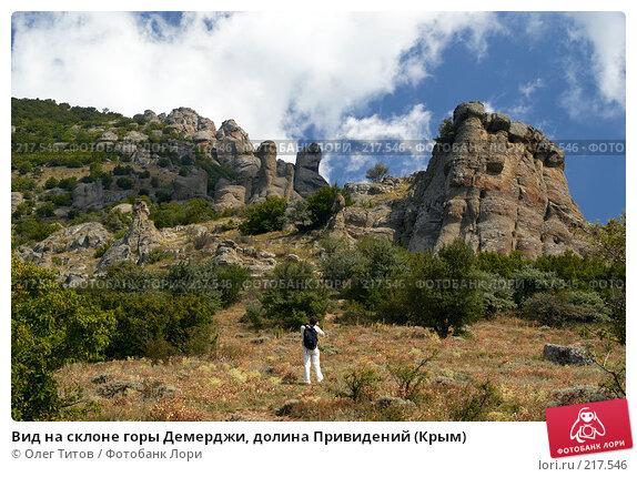 Вид на склоне горы Демерджи, долина Привидений (Крым), фото № 217546, снято 13 сентября 2006 г. (c) Олег Титов / Фотобанк Лори