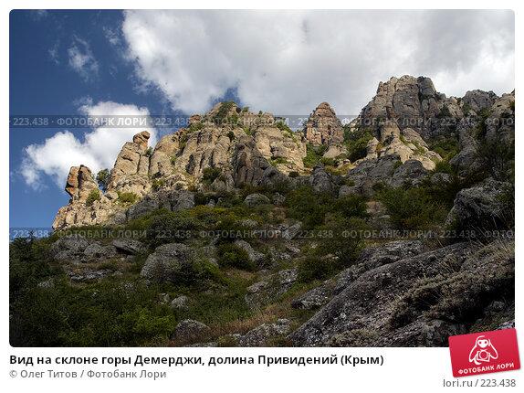 Вид на склоне горы Демерджи, долина Привидений (Крым), фото № 223438, снято 25 июля 2017 г. (c) Олег Титов / Фотобанк Лори