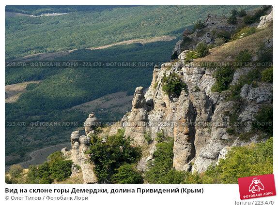 Вид на склоне горы Демерджи, долина Привидений (Крым), фото № 223470, снято 13 сентября 2006 г. (c) Олег Титов / Фотобанк Лори
