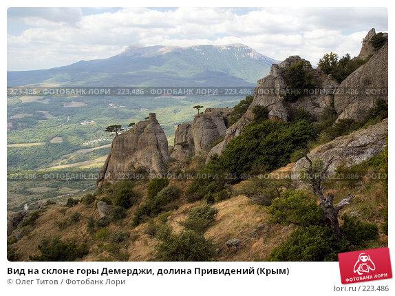 Вид на склоне горы Демерджи, долина Привидений (Крым), фото № 223486, снято 27 марта 2017 г. (c) Олег Титов / Фотобанк Лори