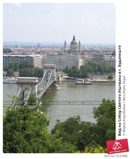 Купить «Вид на Собор Святого Иштвана в г. Будапеште», фото № 213042, снято 26 апреля 2018 г. (c) Мария Коробкина / Фотобанк Лори