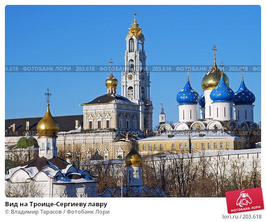 Вид на Троице-Сергиеву лавру, фото № 203618, снято 4 января 2008 г. (c) Владимир Тарасов / Фотобанк Лори