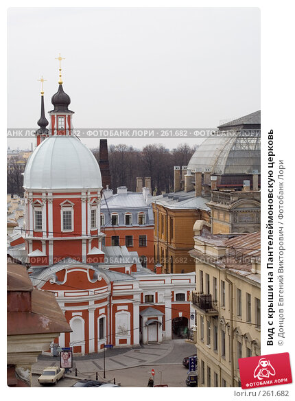 Вид с крыши на Пантелеймоновскую церковь, фото № 261682, снято 17 апреля 2008 г. (c) Донцов Евгений Викторович / Фотобанк Лори