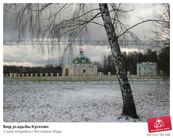 Вид усадьбы Кусково, фото № 43146, снято 5 ноября 2006 г. (c) Julia Shepeleva / Фотобанк Лори