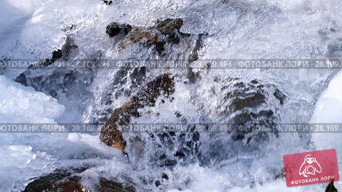Купить «Video of Altai river Bolshaya Gromotuha in winter», видеоролик № 28169494, снято 26 марта 2017 г. (c) Serg Zastavkin / Фотобанк Лори