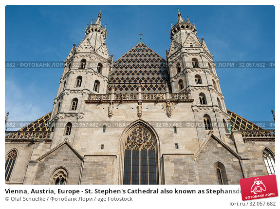 Vienna, Austria, Europe - St. Stephen's Cathedral also known as Stephansdom at the Viennese Stephansplatz square. Стоковое фото, фотограф Olaf Schuelke / age Fotostock / Фотобанк Лори