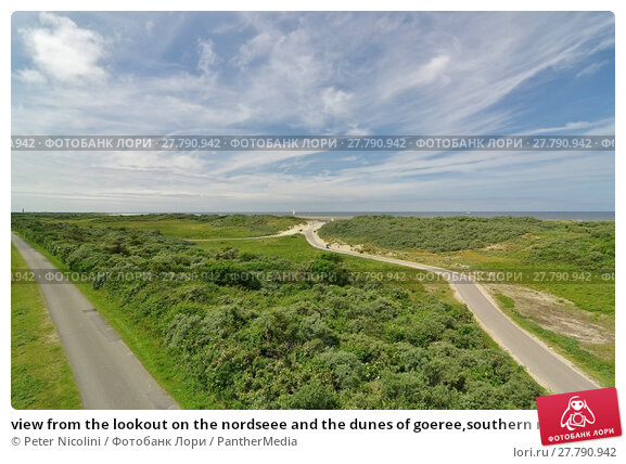 Купить «view from the lookout on the nordseee and the dunes of goeree,southern netherlands», фото № 27790942, снято 19 февраля 2018 г. (c) PantherMedia / Фотобанк Лори