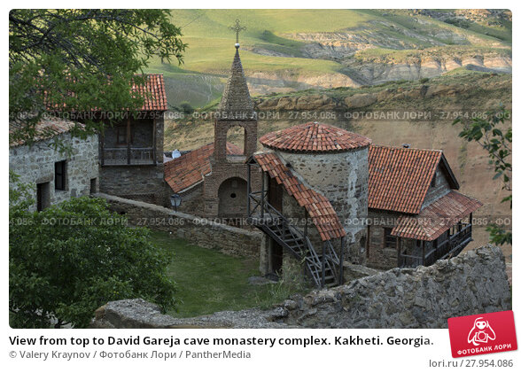 Купить «View from top to David Gareja cave monastery complex. Kakheti. Georgia.», фото № 27954086, снято 16 февраля 2019 г. (c) PantherMedia / Фотобанк Лори