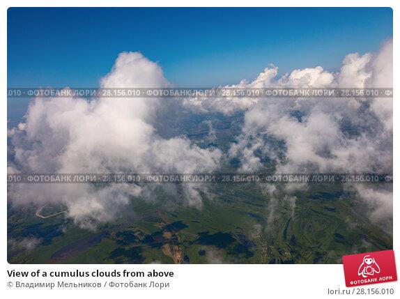 Купить «View of a cumulus clouds from above», фото № 28156010, снято 29 июля 2017 г. (c) Владимир Мельников / Фотобанк Лори