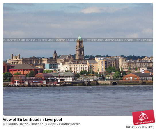 Купить «View of Birkenhead in Liverpool», фото № 27837498, снято 21 февраля 2018 г. (c) PantherMedia / Фотобанк Лори