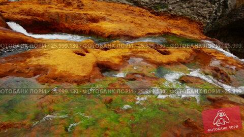 Купить «View on waterfall Salto del Agrio and Agrio river valley in Argentina», видеоролик № 25999130, снято 9 марта 2017 г. (c) Яков Филимонов / Фотобанк Лори