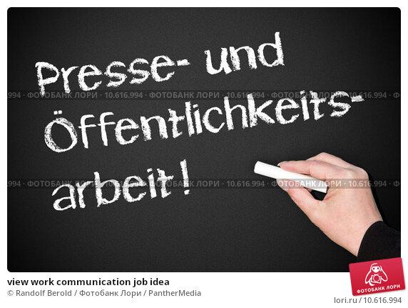 view work communication job idea. Стоковое фото, фотограф Randolf Berold / PantherMedia / Фотобанк Лори
