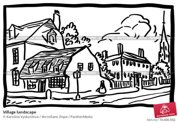 Village landscape. Стоковая иллюстрация, иллюстратор Karolina Vyskocilova / PantherMedia / Фотобанк Лори
