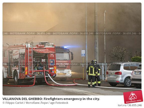 VILLANOVA DEL GHEBBO: Firefighters emergency in the city. Стоковое фото, фотограф Filippo Carlot / age Fotostock / Фотобанк Лори