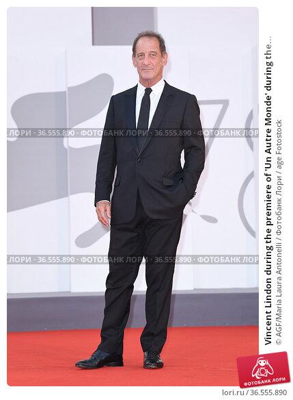Vincent Lindon during the premiere of 'Un Autre Monde' during the... Редакционное фото, фотограф AGF/Maria Laura Antonelli / age Fotostock / Фотобанк Лори