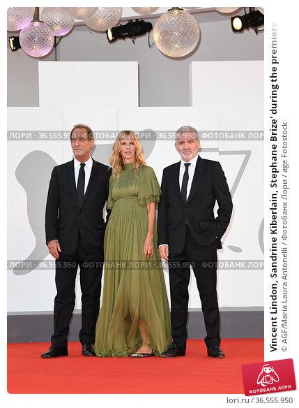 Vincent Lindon, Sandrine Kiberlain, Stephane Brize' during the premiere... Редакционное фото, фотограф AGF/Maria Laura Antonelli / age Fotostock / Фотобанк Лори