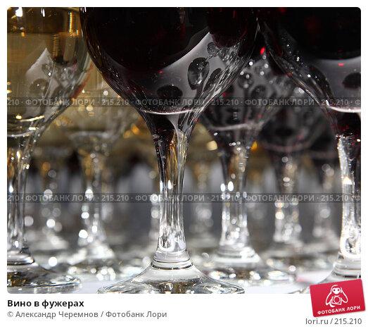 Вино в фужерах, фото № 215210, снято 29 февраля 2008 г. (c) Александр Черемнов / Фотобанк Лори