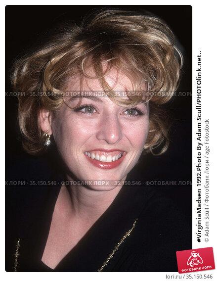 #VirginiaMadsen 1992.Photo By Adam Scull/PHOTOlink.net.. Редакционное фото, фотограф Adam Scull / age Fotostock / Фотобанк Лори