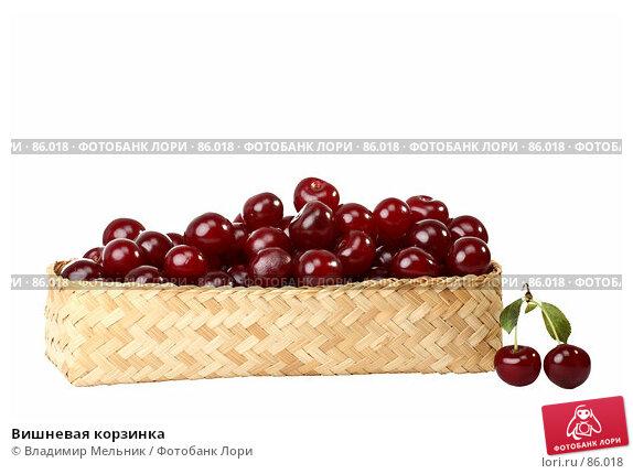 Вишневая корзинка, фото № 86018, снято 17 июля 2007 г. (c) Владимир Мельник / Фотобанк Лори