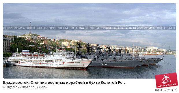 Владивосток. Стоянка военных кораблей в бухте Золотой Рог., фото № 98414, снято 28 июля 2017 г. (c) TigerFox / Фотобанк Лори