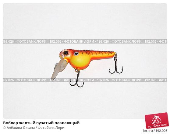 Воблер желтый пузатый плавающий, фото № 192026, снято 26 января 2008 г. (c) Алёшина Оксана / Фотобанк Лори