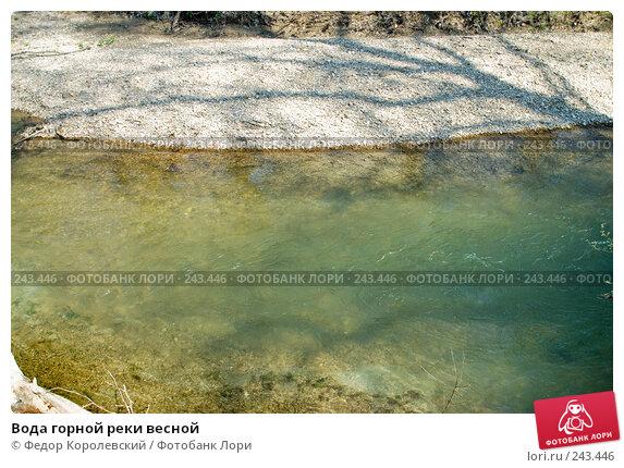 Вода горной реки весной, фото № 243446, снято 4 апреля 2008 г. (c) Федор Королевский / Фотобанк Лори