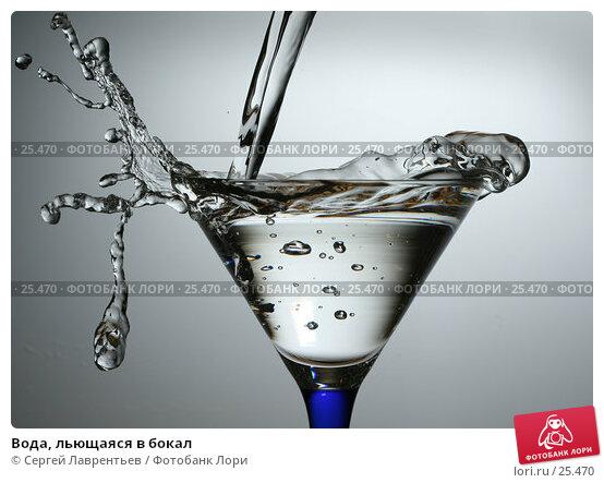 Вода, льющаяся в бокал, фото № 25470, снято 4 февраля 2007 г. (c) Сергей Лаврентьев / Фотобанк Лори