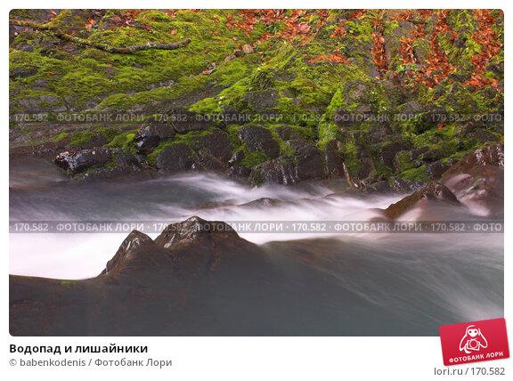 Купить «Водопад и лишайники», фото № 170582, снято 4 января 2006 г. (c) Бабенко Денис Юрьевич / Фотобанк Лори