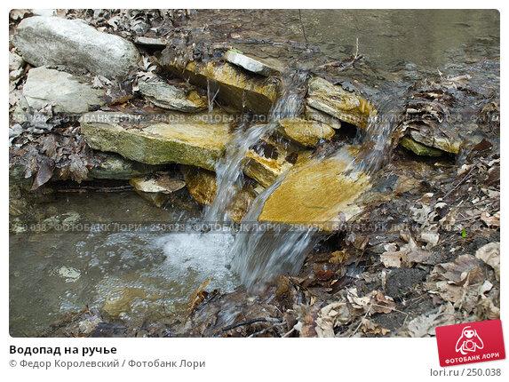 Водопад на ручье, фото № 250038, снято 12 апреля 2008 г. (c) Федор Королевский / Фотобанк Лори