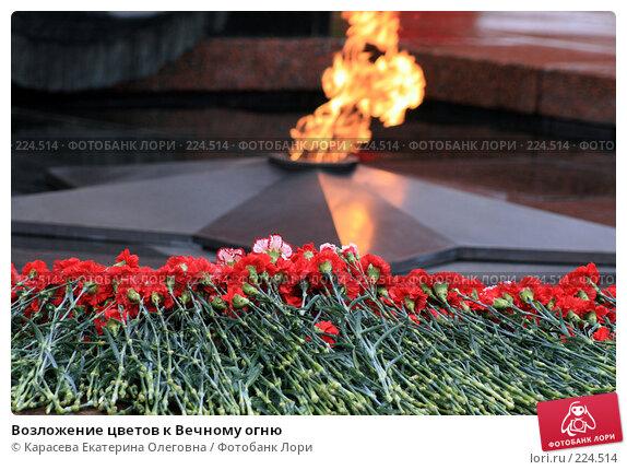 Возложение цветов к Вечному огню, фото № 224514, снято 23 февраля 2008 г. (c) Карасева Екатерина Олеговна / Фотобанк Лори