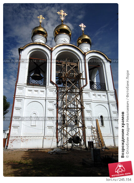 Возрождение храмов, фото № 245154, снято 19 августа 2007 г. (c) Оглоблин Андрей Николаевич / Фотобанк Лори